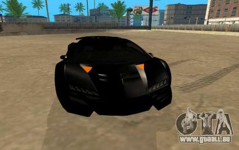 GTA 5 Zentorno pour GTA San Andreas vue arrière