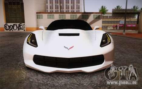 Chevrolet Corvette Stingray C7 2014 pour GTA San Andreas vue intérieure