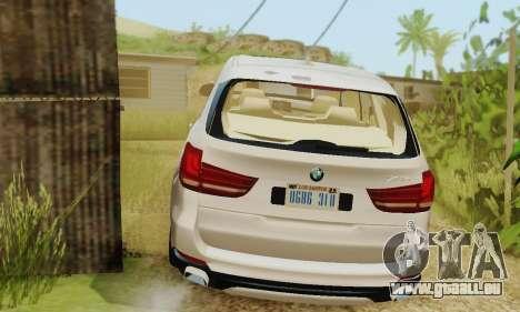 BMW X5 (F15) 2014 pour GTA San Andreas vue arrière