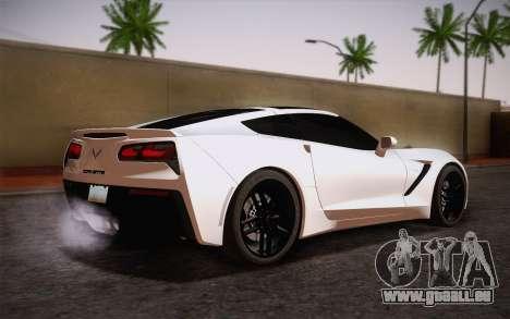 Chevrolet Corvette Stingray C7 2014 pour GTA San Andreas laissé vue