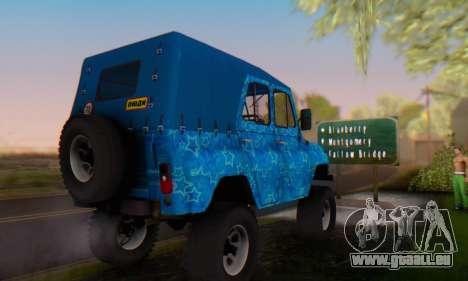 UAZ 469 Blue Star für GTA San Andreas Seitenansicht