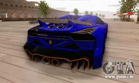 Pegassi Zentorno GTA 5 v2 für GTA San Andreas Unteransicht