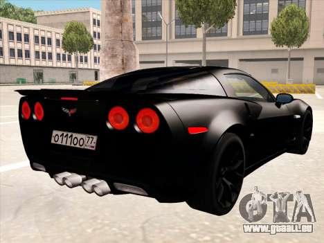 Chevrolet Corvette Grand Sport pour GTA San Andreas roue