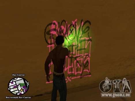 Tags Map Mod v1.2 pour GTA San Andreas troisième écran