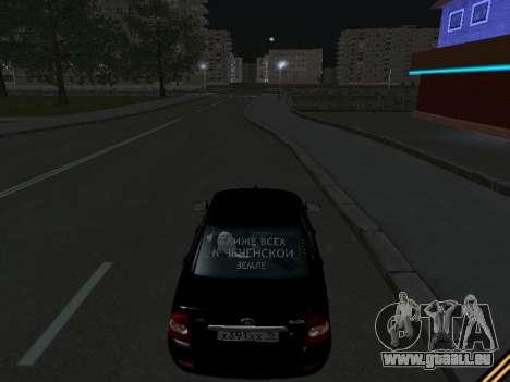 Lada 2170 Priora für GTA San Andreas Unteransicht