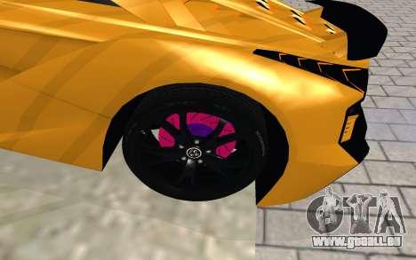 GTA 5 Zentorno pour GTA San Andreas vue de droite