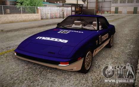 Mazda RX-7 GSL-SE 1985 IVF für GTA San Andreas Unteransicht