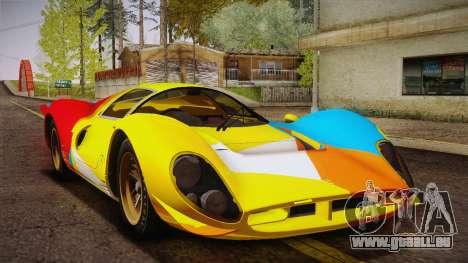 Ferrari 330 P4 1967 HQLM pour GTA San Andreas vue de dessous
