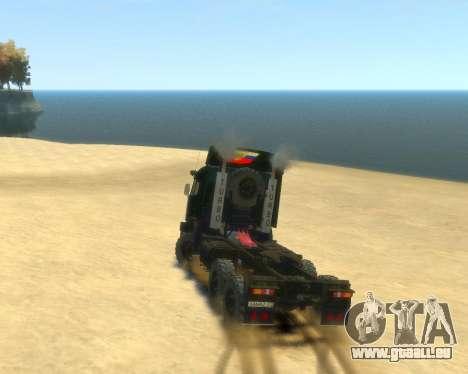 KamAZ Tracteur 4410 pour GTA 4 est une gauche
