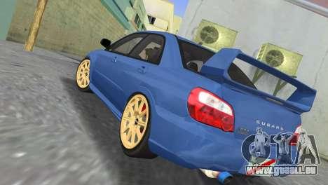 Subaru Impreza WRX STI 2005 pour GTA Vice City sur la vue arrière gauche