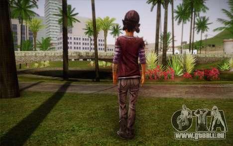 Clémentine из The Walking Dead pour GTA San Andreas deuxième écran