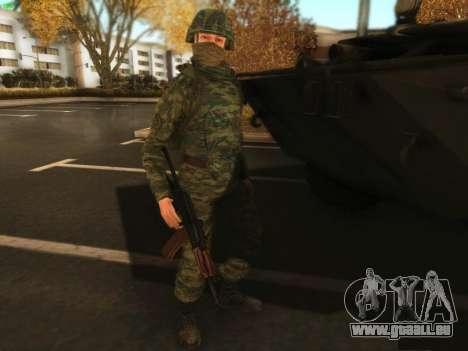 Bombardier moderne de l'Armée russe pour GTA San Andreas troisième écran