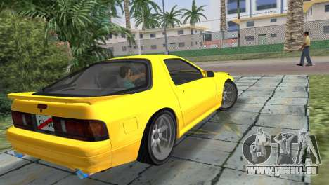Mazda Savanna RX-7 III (FC3S) für GTA Vice City linke Ansicht