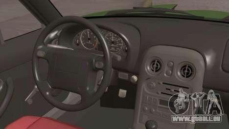 Mazda Miata Hellaflush pour GTA San Andreas vue de droite