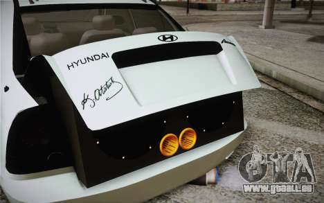 Hyundai Polis TR für GTA San Andreas Rückansicht