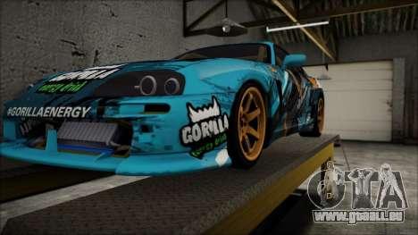 Toyota Supra GT-Shop pour GTA San Andreas sur la vue arrière gauche