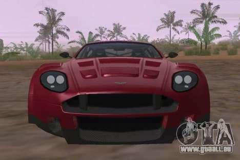 Aston Martin DBR9 für GTA San Andreas Innenansicht