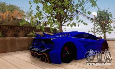 Pegassi Zentorno GTA 5 v2 für GTA San Andreas Innen