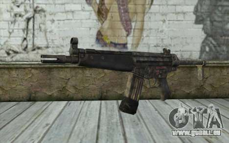 G53 with Woodland Camo BF3 pour GTA San Andreas