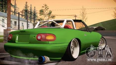 Mazda Miata Hellaflush pour GTA San Andreas sur la vue arrière gauche