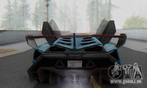 Lamborghini LP750-4 2013 Veneno Blue Star pour GTA San Andreas salon