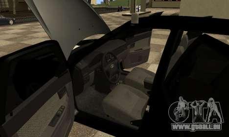 Lada 2170 Priora pour GTA San Andreas vue de côté