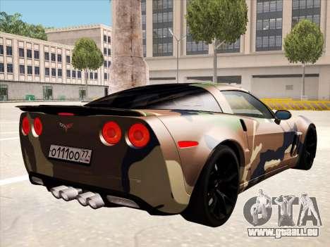 Chevrolet Corvette Grand Sport pour GTA San Andreas salon