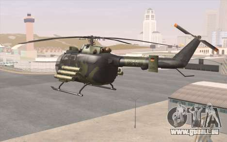 Bo-105 pour GTA San Andreas sur la vue arrière gauche