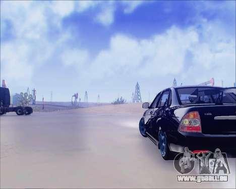 Lada 2170 Priora Tuneable pour GTA San Andreas sur la vue arrière gauche