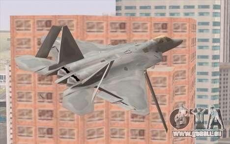 F-22 Raptor pour GTA San Andreas vue arrière