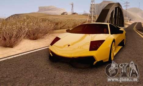 Lamborghini Murcielago LP670-4 SV pour GTA San Andreas laissé vue