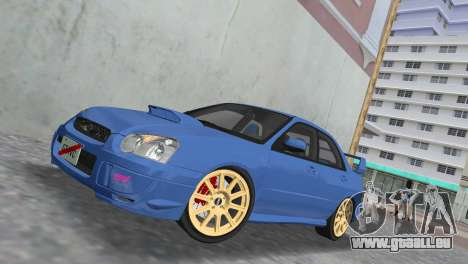 Subaru Impreza WRX STI 2005 pour GTA Vice City vue latérale