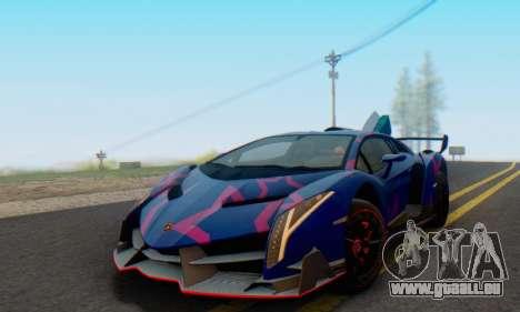 Lamborghini LP750-4 2013 Veneno Blue Star pour GTA San Andreas vue de dessous