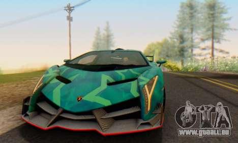 Lamborghini LP750-4 2013 Veneno Blue Star pour GTA San Andreas vue intérieure