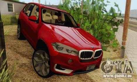 BMW X5 (F15) 2014 pour GTA San Andreas sur la vue arrière gauche