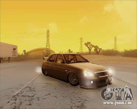 Lada 2170 Priora Tuneable pour GTA San Andreas salon