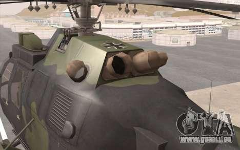 Bo-105 pour GTA San Andreas vue arrière