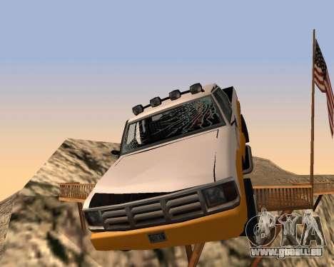 Nouveau Pick-Up pour GTA San Andreas vue de dessous