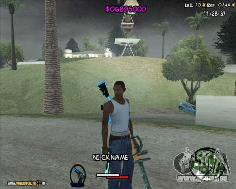 HUD by Romka MC pour GTA San Andreas deuxième écran