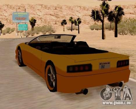Super GT Cabriolet pour GTA San Andreas sur la vue arrière gauche