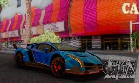 Lamborghini LP750-4 2013 Veneno Blue Star für GTA San Andreas