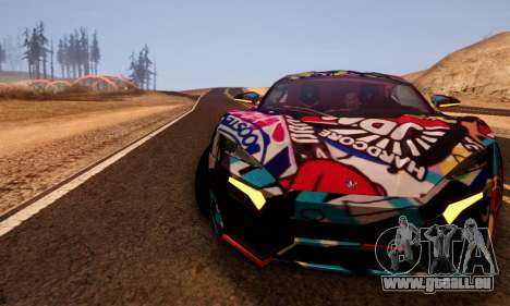 W-Motors Lykan Hypersport 2013 Stiker Editions für GTA San Andreas rechten Ansicht