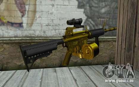Golden M4 mit einem shop für GTA San Andreas zweiten Screenshot