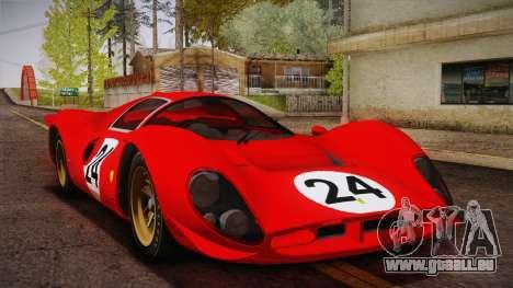 Ferrari 330 P4 1967 HQLM pour GTA San Andreas vue de dessus
