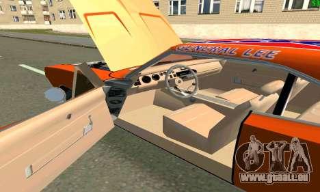 Dodge Charger General lee pour GTA San Andreas sur la vue arrière gauche