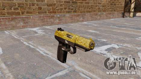 Pistolet FN Cinq sept d'Or pour GTA 4