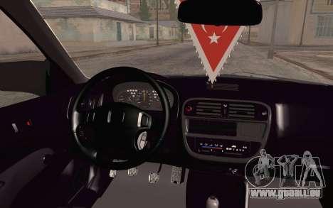 Honda Civic 1.4 BS Garage pour GTA San Andreas vue de droite