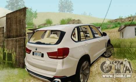 BMW X5 (F15) 2014 pour GTA San Andreas vue intérieure