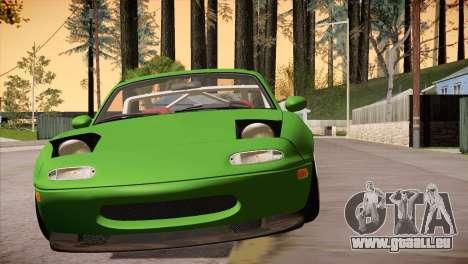 Mazda Miata Hellaflush pour GTA San Andreas vue arrière