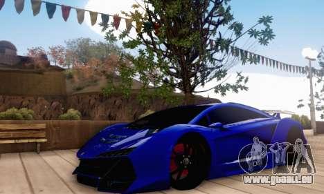 Pegassi Zentorno GTA 5 v2 pour GTA San Andreas laissé vue